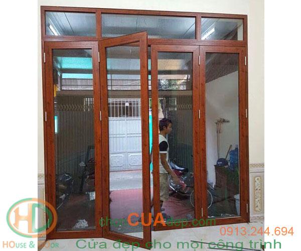 cửa nhựa lõi thép vân gỗ 8