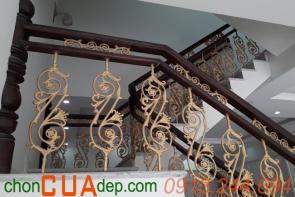 Cầu thang lan can sắt Biên Hòa