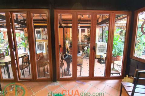 Cửa nhôm vân gỗ Biên Hòa