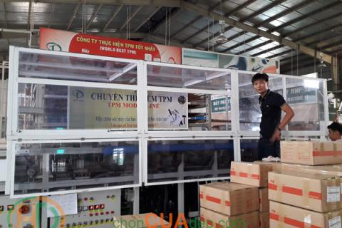 Hộp che chống bụi máy sản xuất hàng xuất khẩu